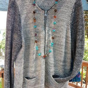 Talbots lightweight gray sweater